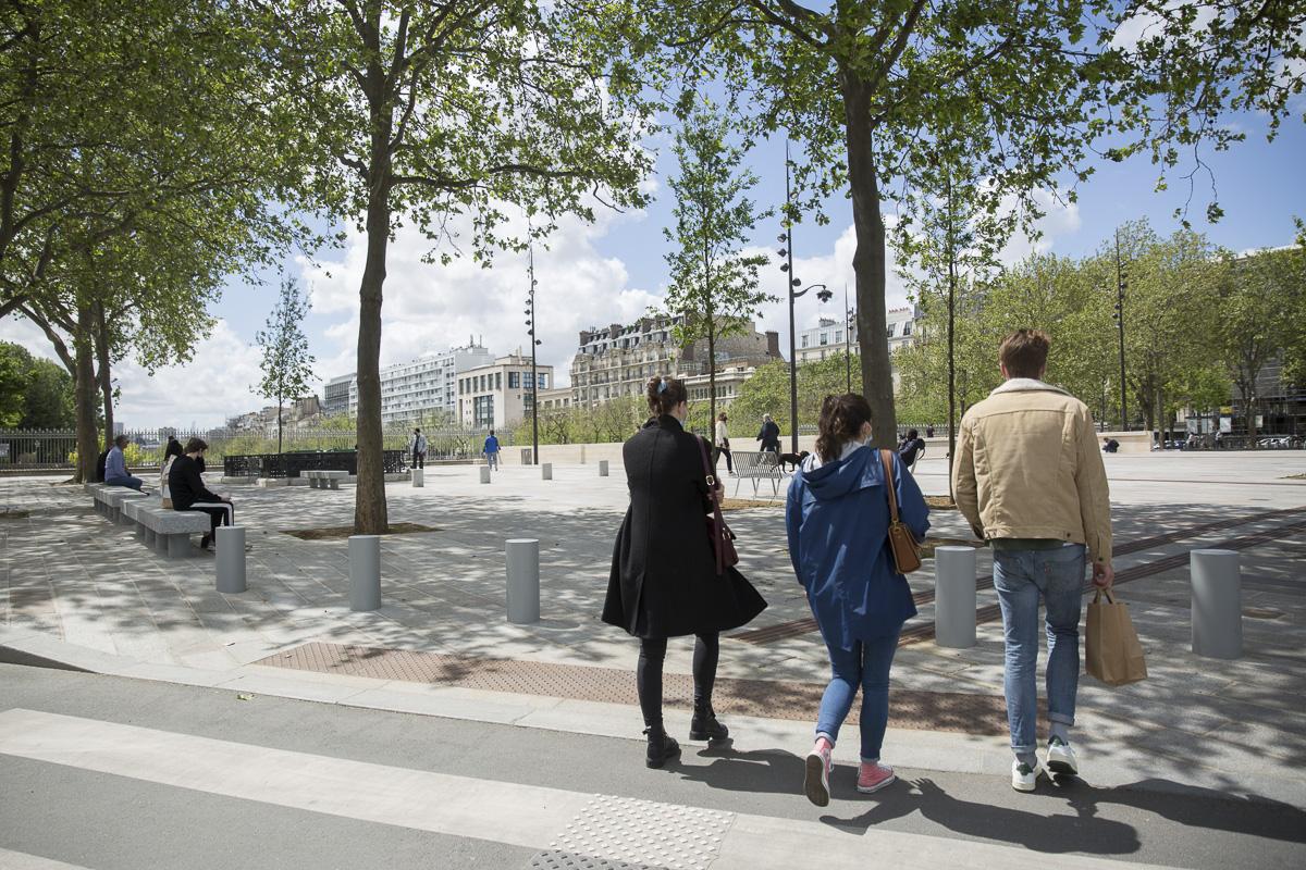 La place de la Bastille.
