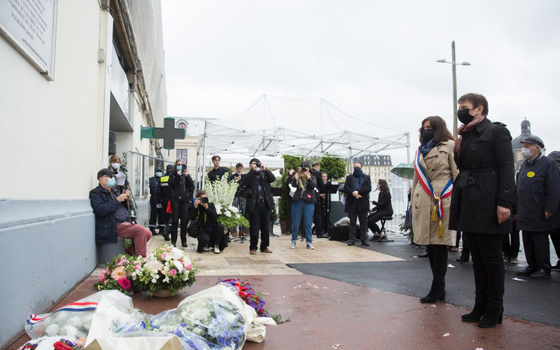 Commémorations du 80e anniversaire de la rafle du billet vert, Gare d'Austerlitz