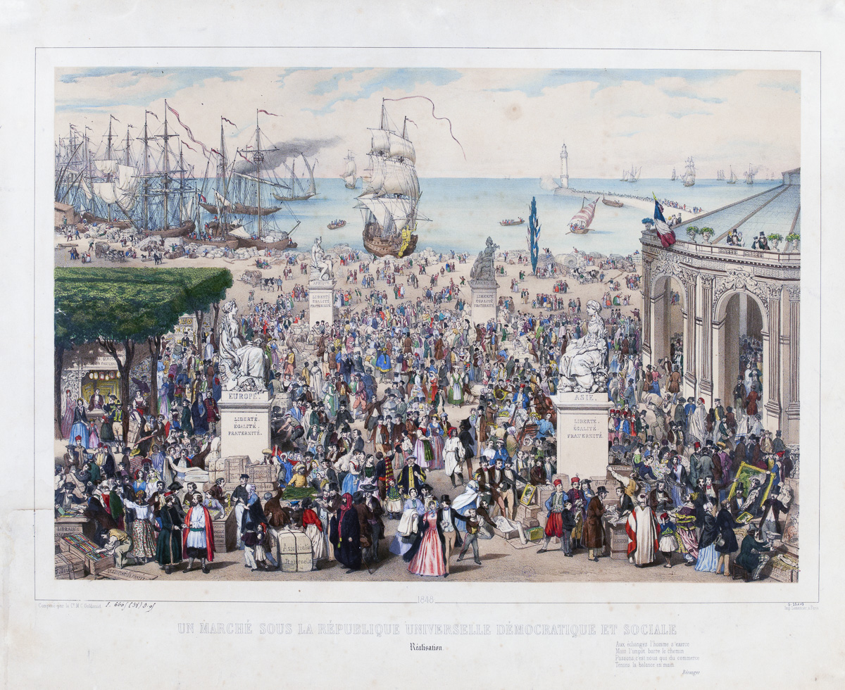 1848 / Un marché sous la République universelle démocratique et sociale / Réalisation