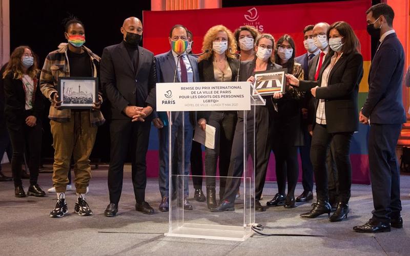 Remise du prix international de la Ville de Paris pour les droits de personnes LGBTQI+