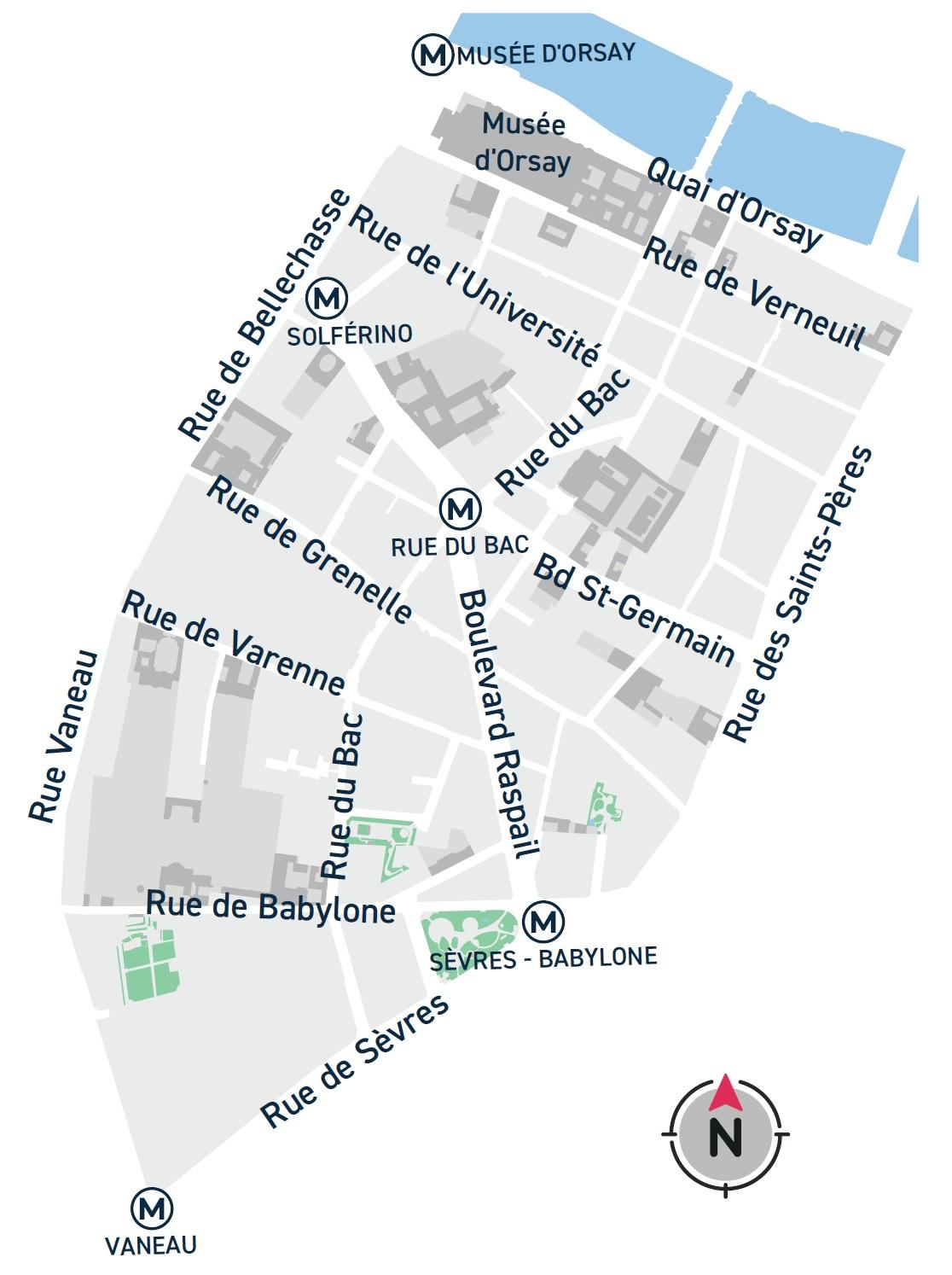 Plan du quartier Saint-Thomas d'Aquin
