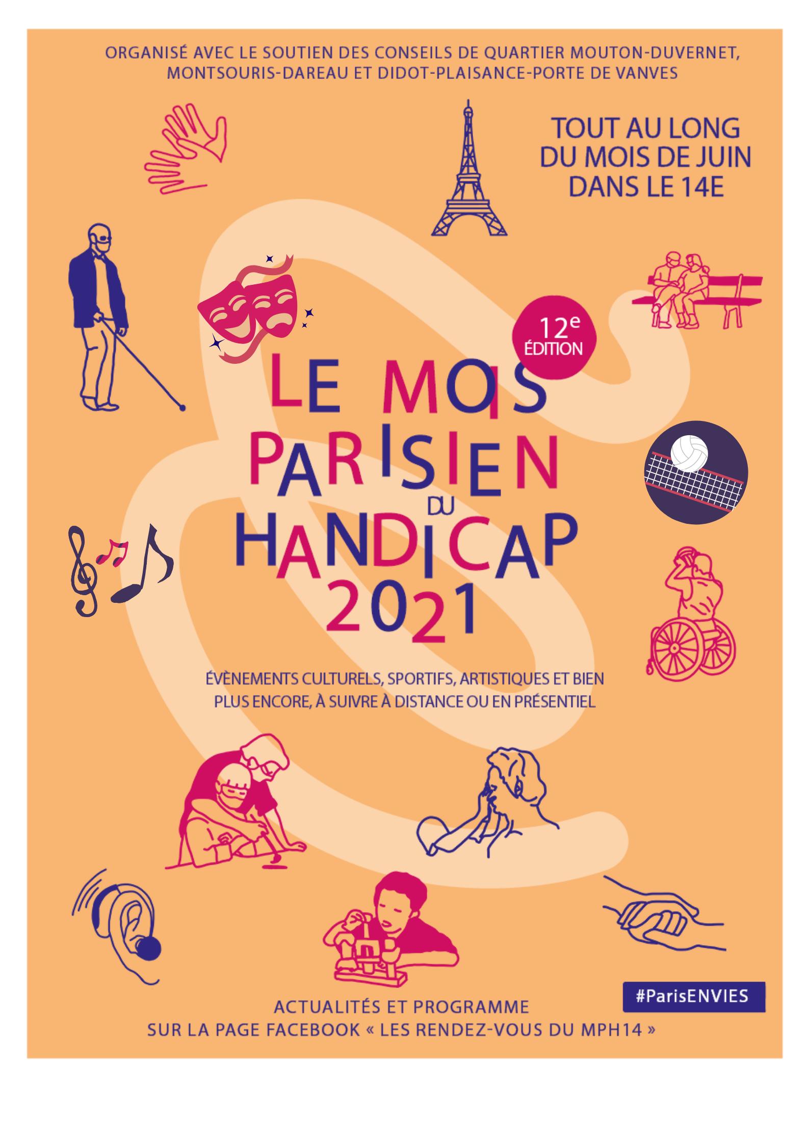 Affiche 2021 du Mois parisien du Handicap
