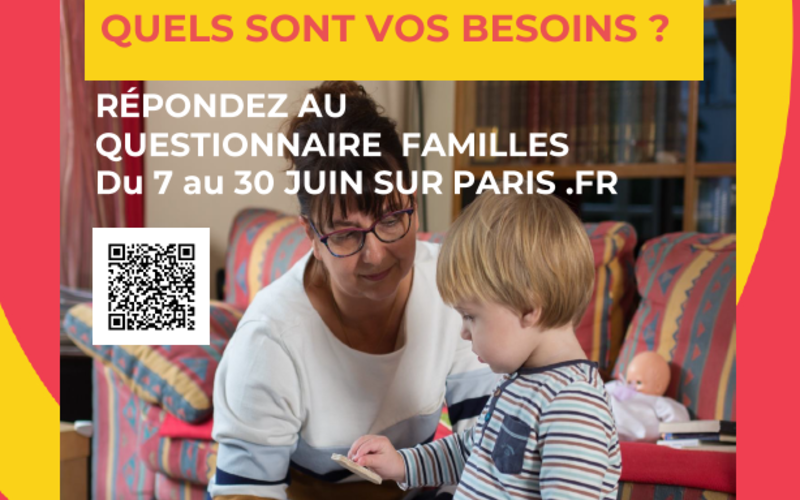 Affiche questionnaire famille sur Paris.fr