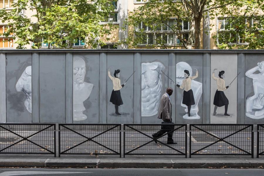 Embellir Paris : La ligne blanche Escif et Brillo y Sabor studio