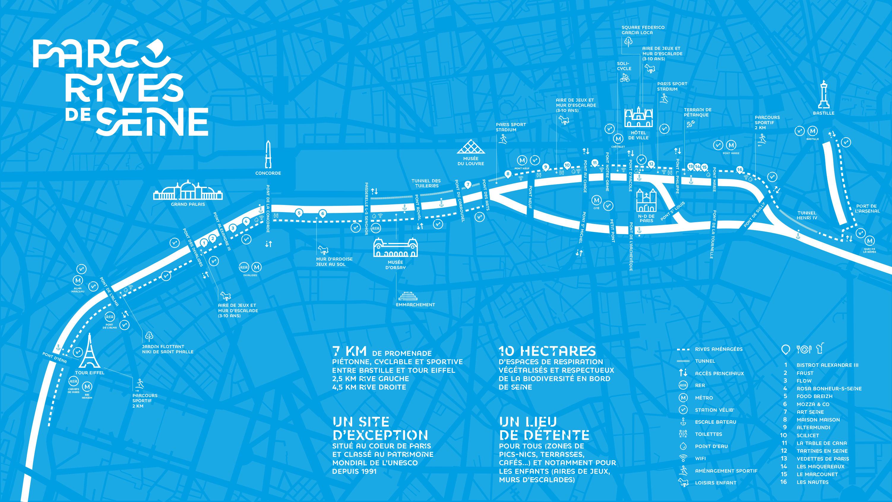 Carte Parc Rives de Seine