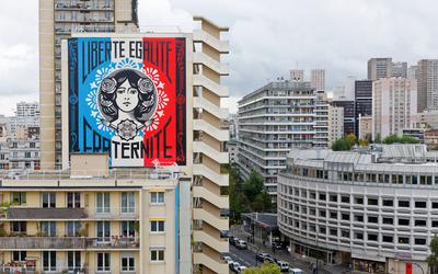 Marianne de Shepard Fairey dit Obey rue Nationale