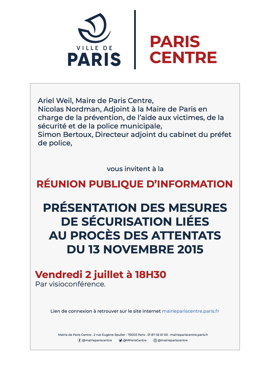 Réunion publique - Mesures de sécurisation / Procès des attentats du 13 novembre 2015