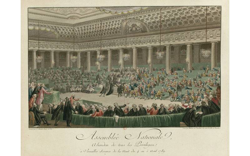 Assemblée nationale - abandon de tous les privilèges à Versailles, séance de la nuit du 4 au 5 août 1789