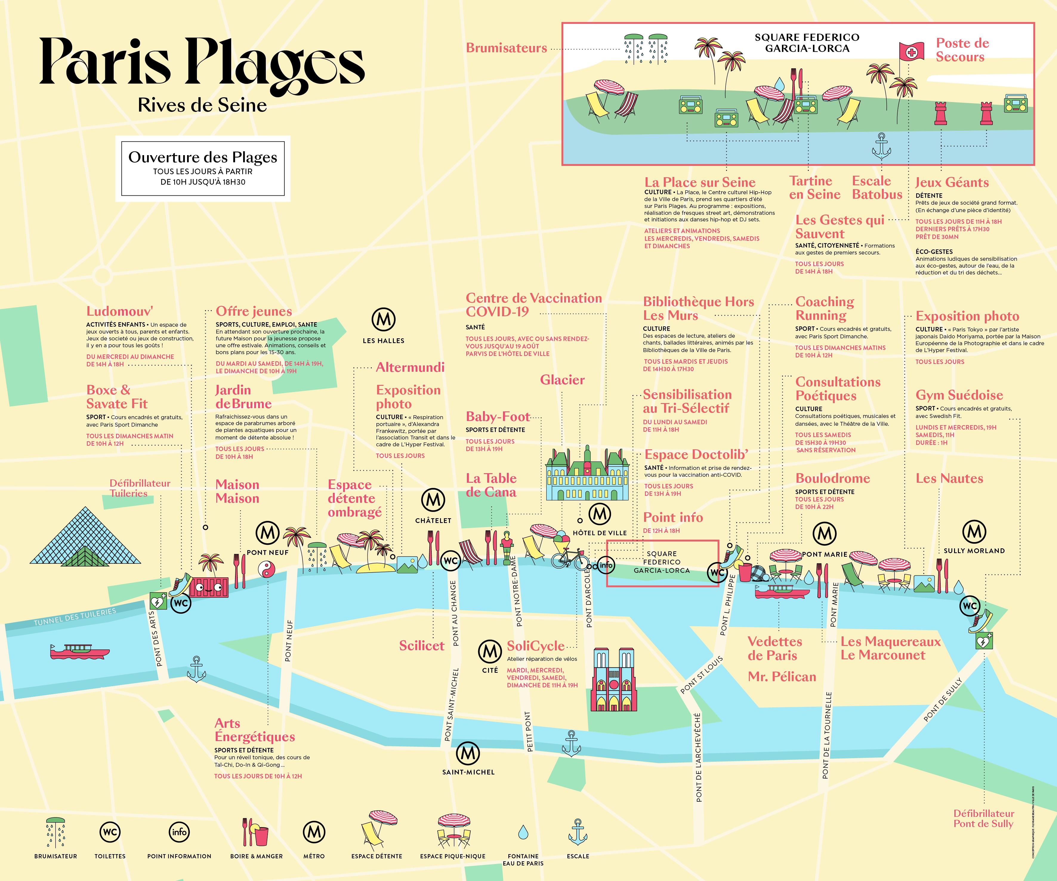 Plan Paris Plages , Rives de Seine