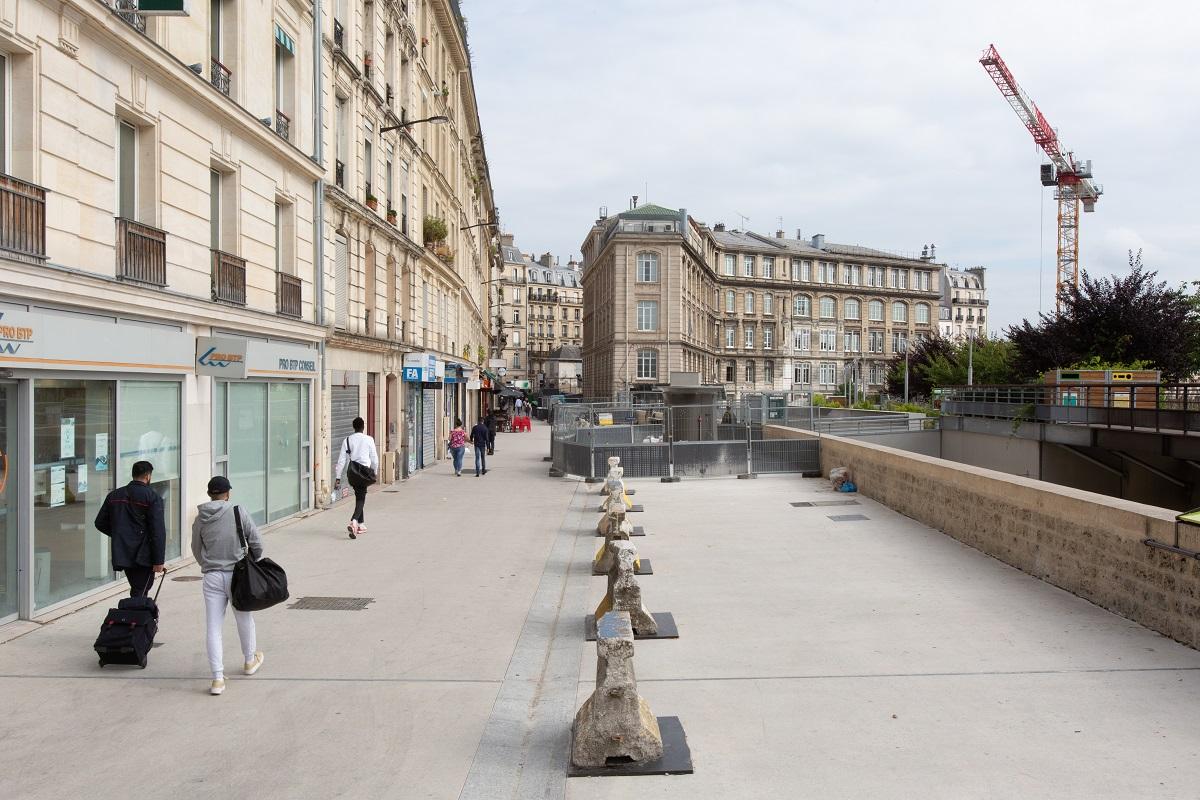 Photo d'un chantier d'aménagement de la rue d'Alsace