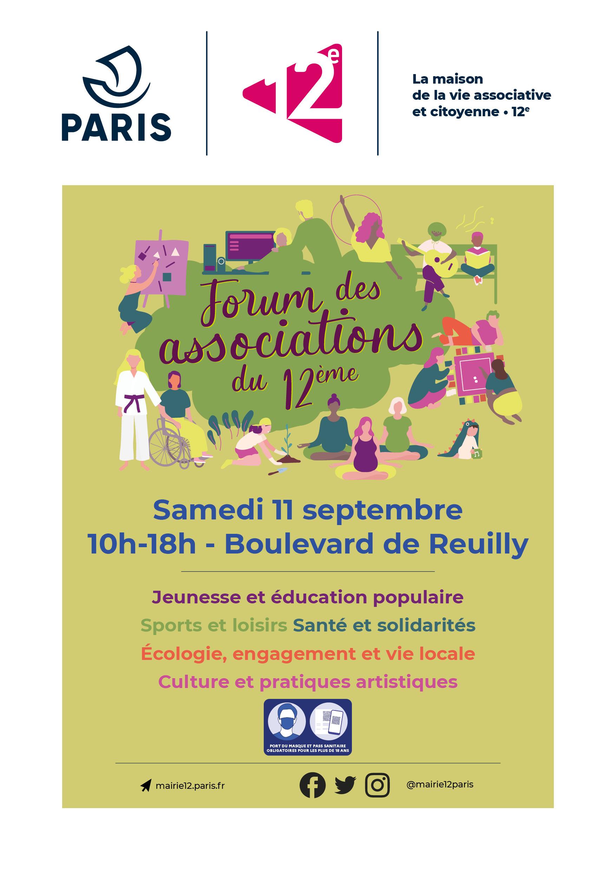 Forum des associations le 11 septembre 2021 boulevard - Mairie du 12ᵉ