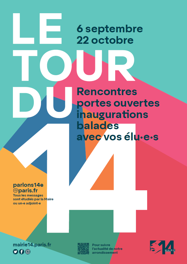 Affiche du Tour du 14, du 6 septembre au 22 octobre 2021