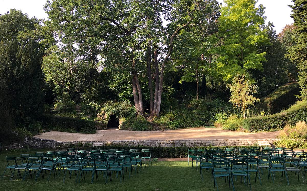 Plateau du théatre de verdure   Jardin Shakespeare   Pré Catelan