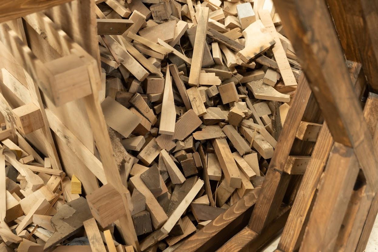 Coulisses de Photoclimat - Bois recyclé