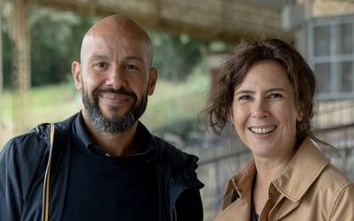 Mourad Merzouki à gauche et Sandrina Martins à droite sont les deux directeurs artistiques de Nuit Blanche.
