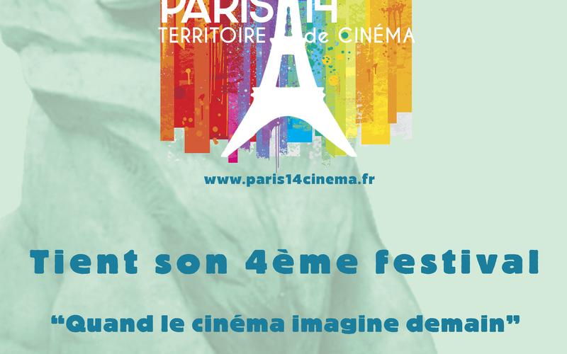 Affiche du festival Quand le cinéma imagine demain, du 1er au 13 octobre 2021, dans le 14e arrondissement