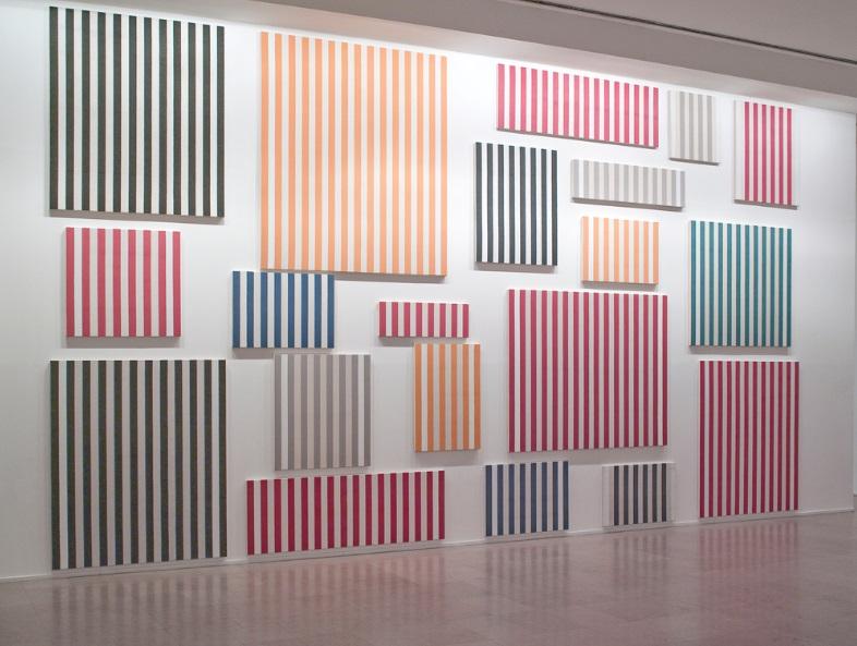 Daniel Buren, Murs de peintures  1995