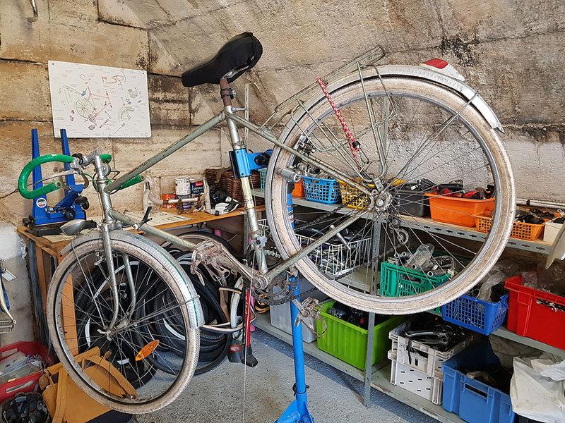 Vélo à réparé chez Solicycle