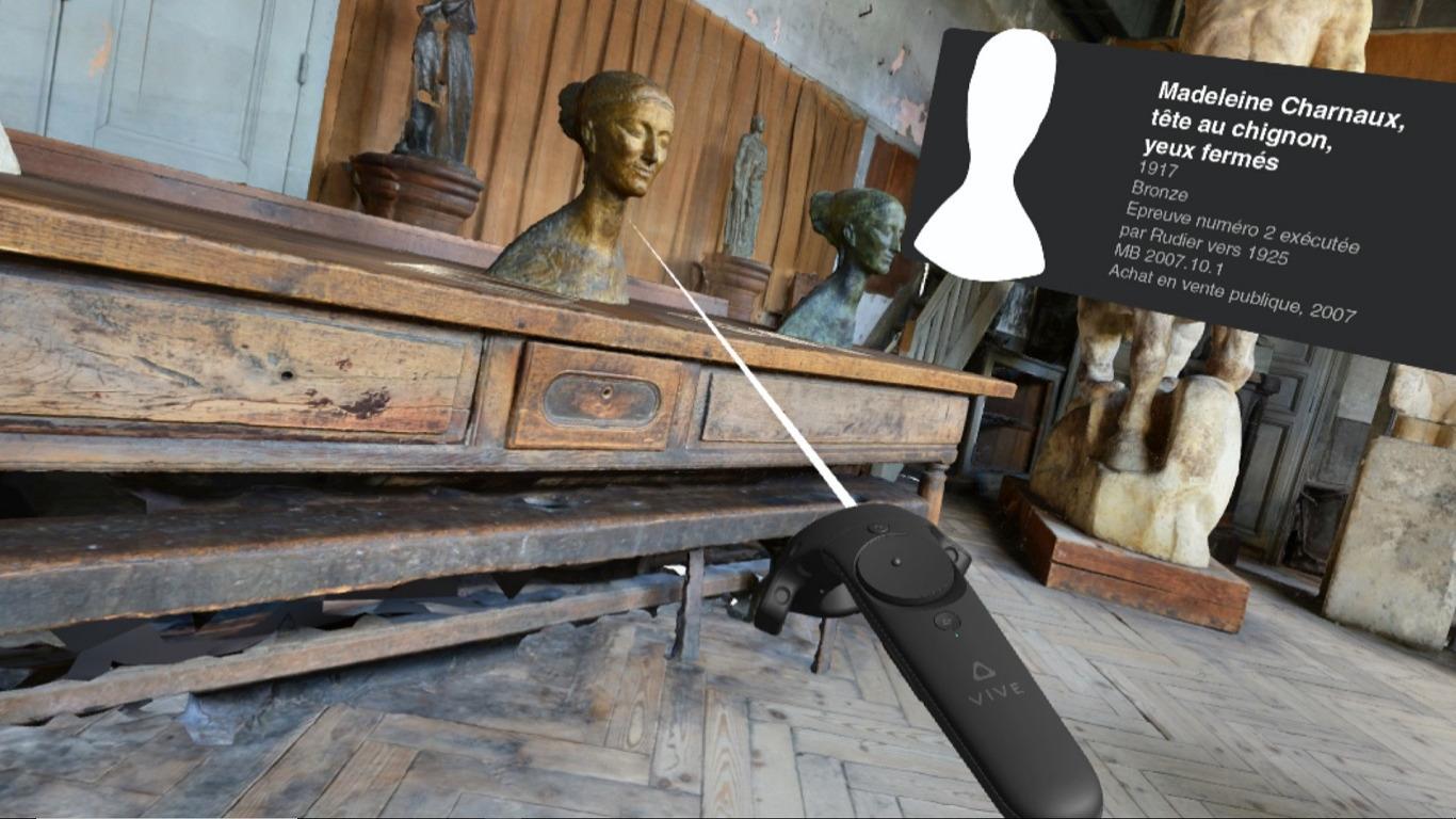 Exploration en VR du Musée Bourdelle