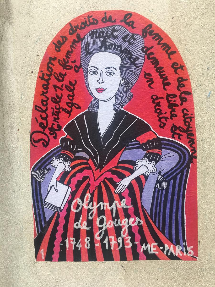 Œuvre Olympes de Gouges de ME-PARIS à Montmartre