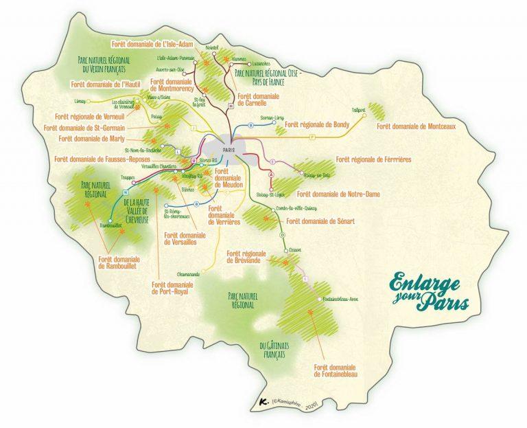 Carte Enlarge your Paris