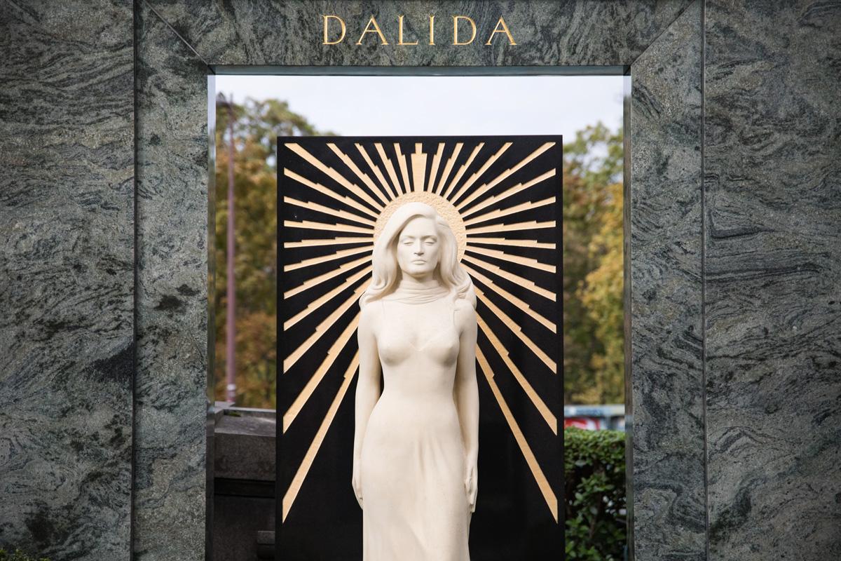 La tombe de Dalida