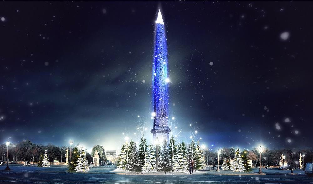 Prévisualisation des illuminations Place de la Concorde pour Paris scintille 2020