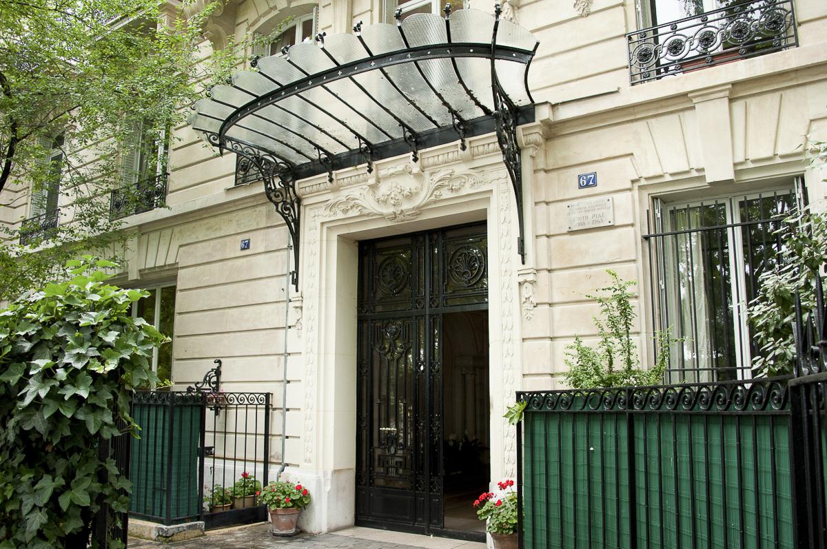 Appartement d'Edith Piaf ,67 Boulevard Lannes 16e