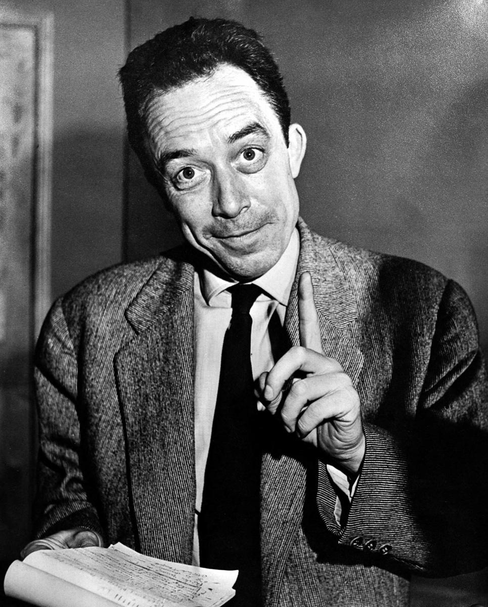 Albert Camus (1913-1960), écrivain français.