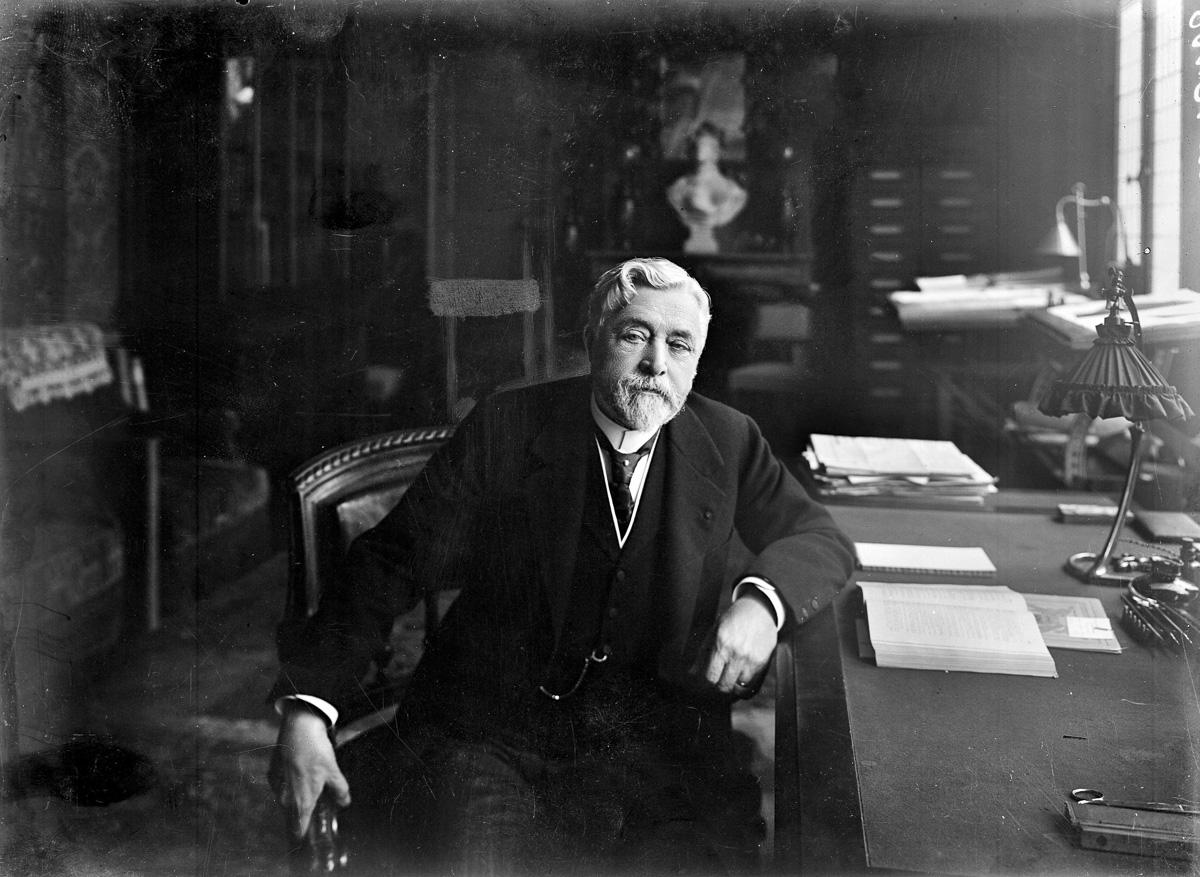 Gustave Eiffel (1832-1923), ingénieur français.