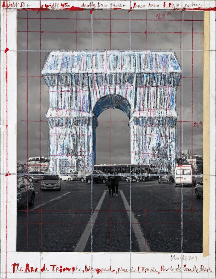 The Arc de Triumph (Project for Paris, Place de l'Etoile – Charles de Gaulle) Wrapped