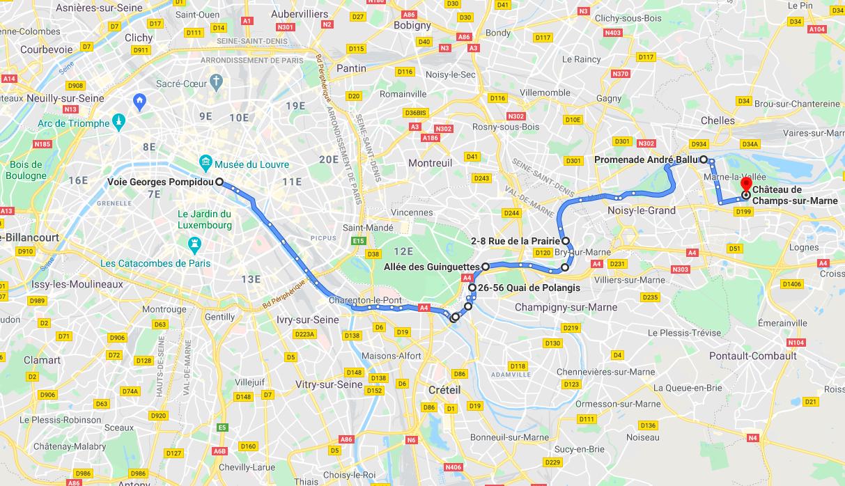 De Paris aux guinguettes de la Marne