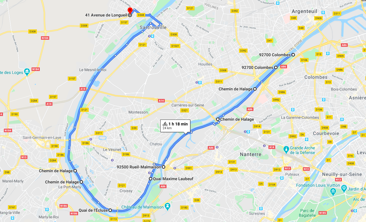 Balade à vélo : la Seine impressionniste
