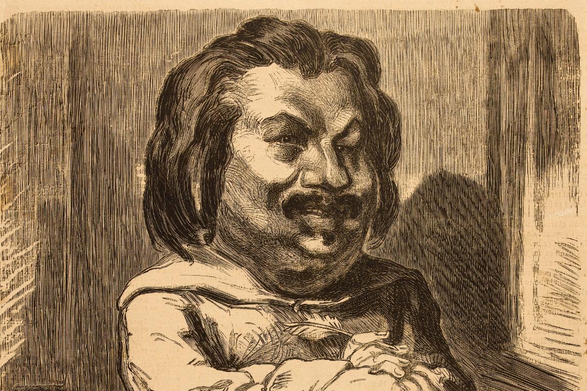 Gravure d'Etienne Carjat représentant Honoré de Balzac