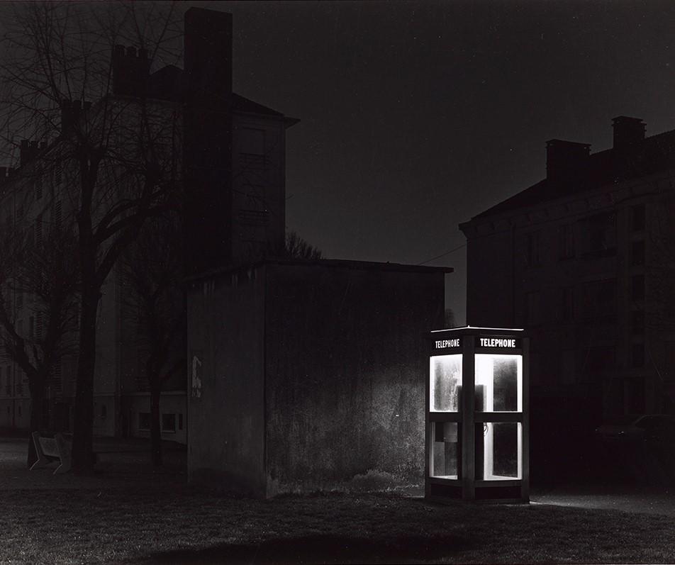 Gilbert Fastenaekens Le Havre de la série Nocturne 1982 40,4 x 51 cm tirage argentique signé, daté, localisé