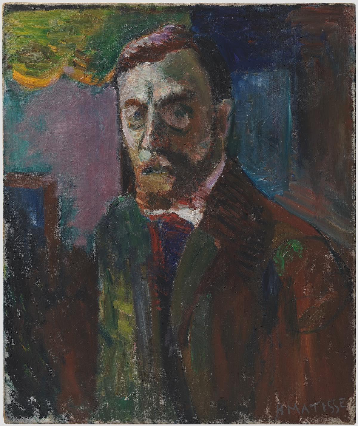 Henri MatisseAutoportrait, 1900Huile sur toile55 × 46 cmCentre Pompidou, Musée national d'art moderne, Paris