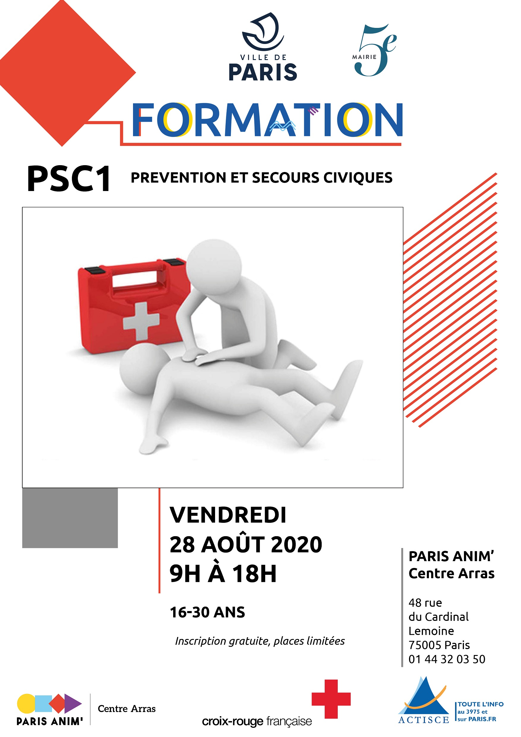 Formation Psc1 Que Faire A Paris
