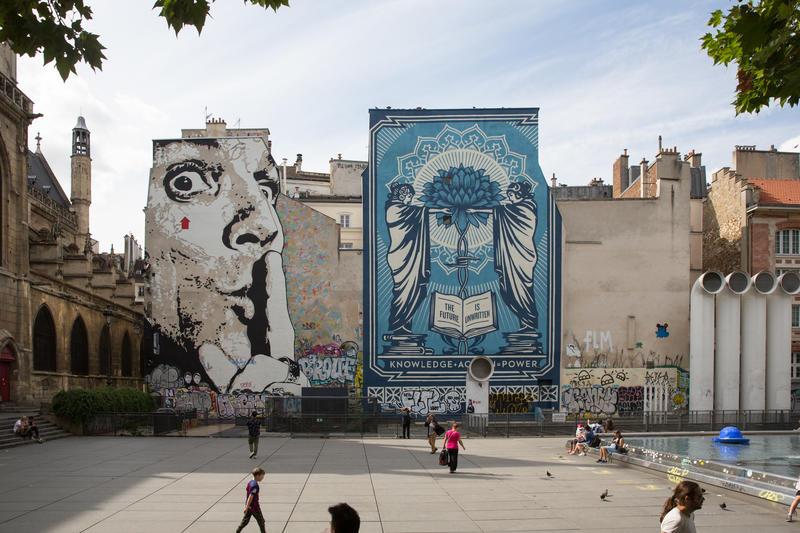 Street art, Place Igor Stravinsky 4e
