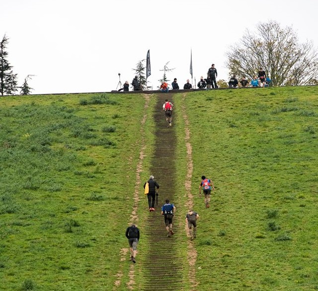 L'ascension de la butte des Châtaigniers à Argenteuil pour le Trail des Châtaignes