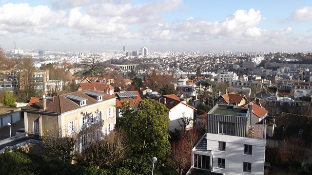 Le panorama depuis la terrasse de l'observatoire de Meudon