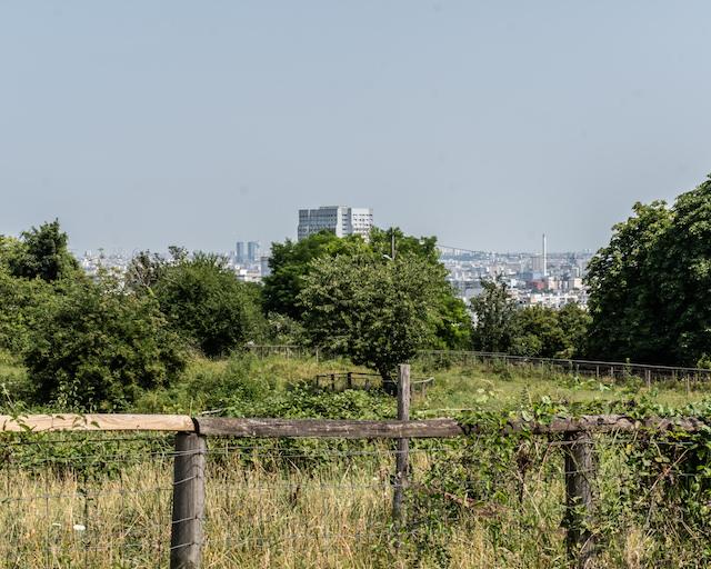 La vue depuis le parc des Lilas à Vitry