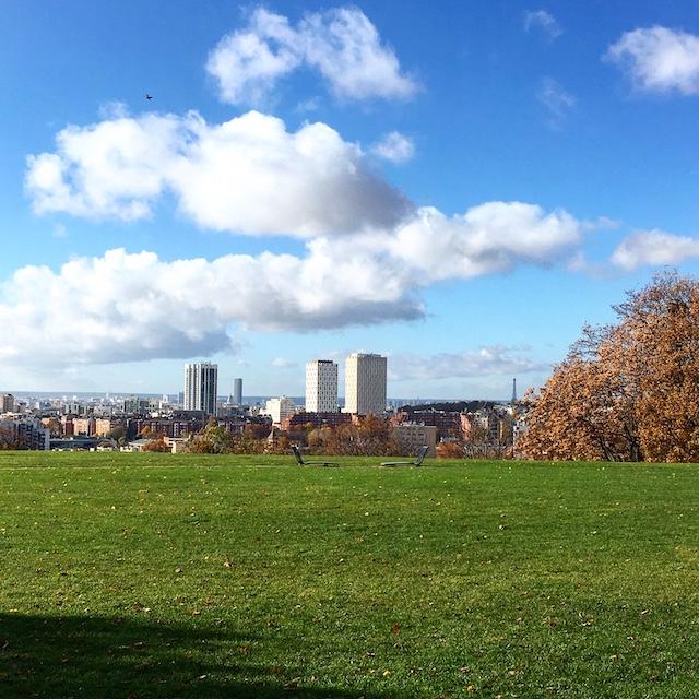 La vue depuis le parc Jean Moulin – Les Guilands à Bagnolet-Montreuil