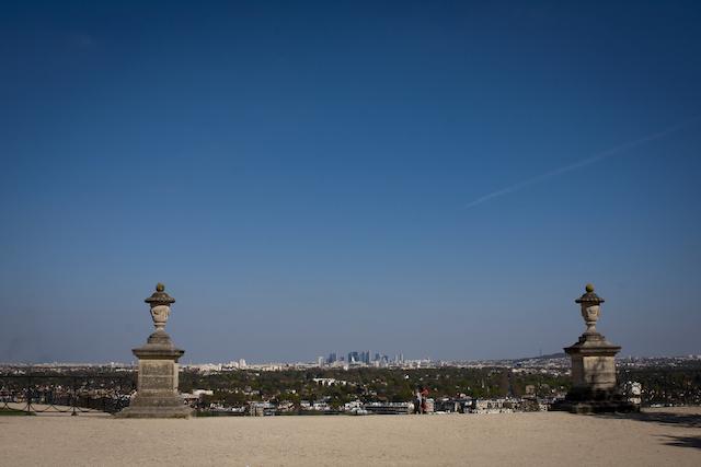 Le panorama depuis la terrasse du château de Saint-Germain-en-Laye