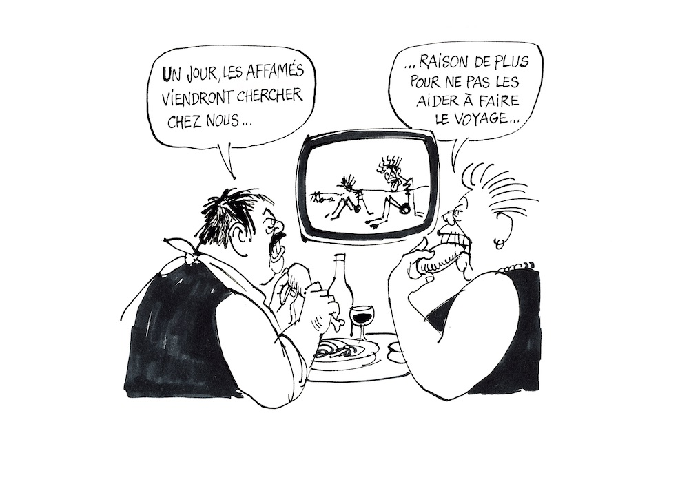 """Le Canard enchaîné, 1984 Se encuentra en la sección """"Los personajes de Cabu"""""""