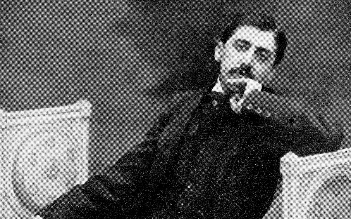 Marcel Proust (1871-1922), écrivain français, vers 1896.