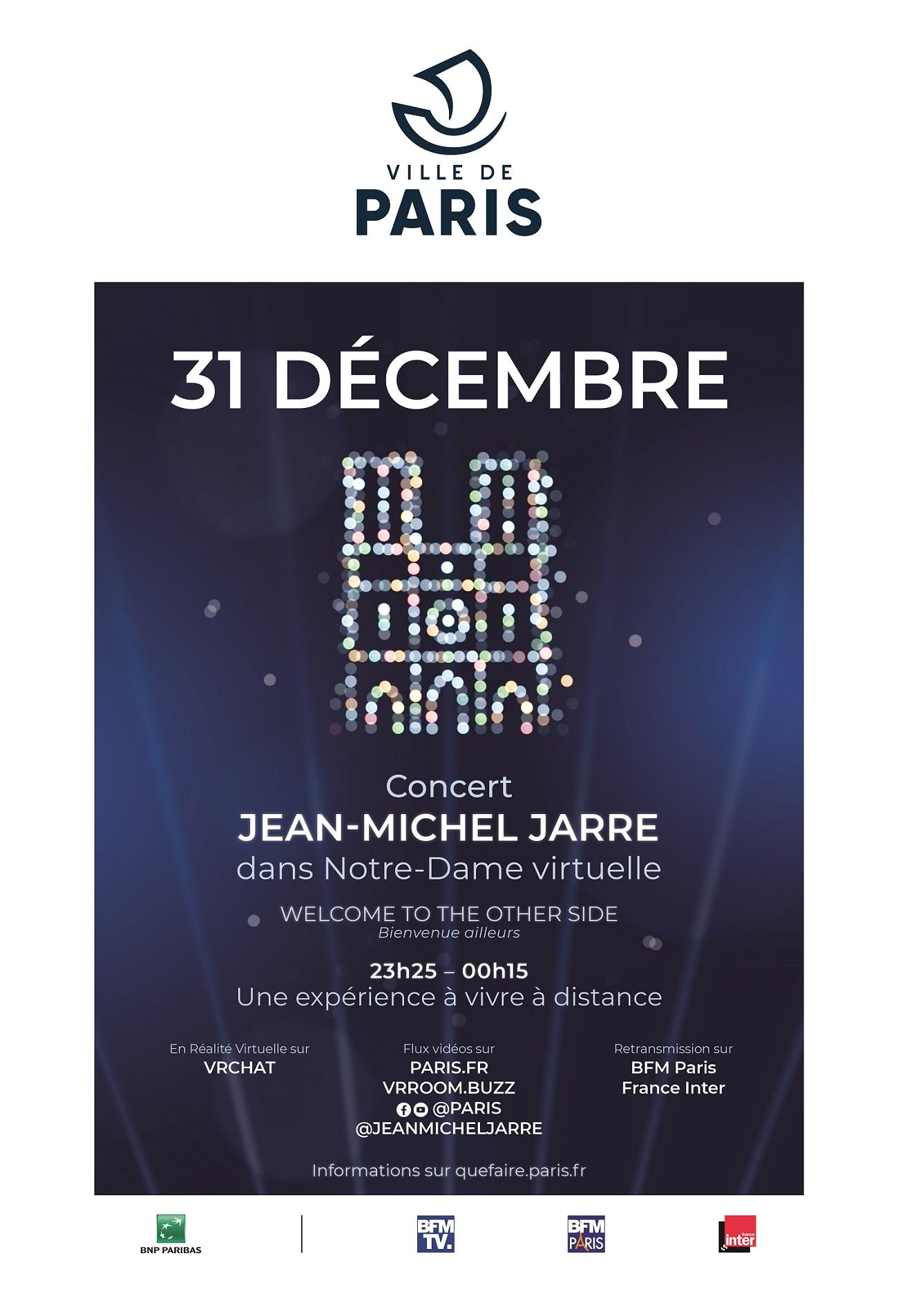 Affiche 31 décembre - Concert de Jean-Michel Jarre