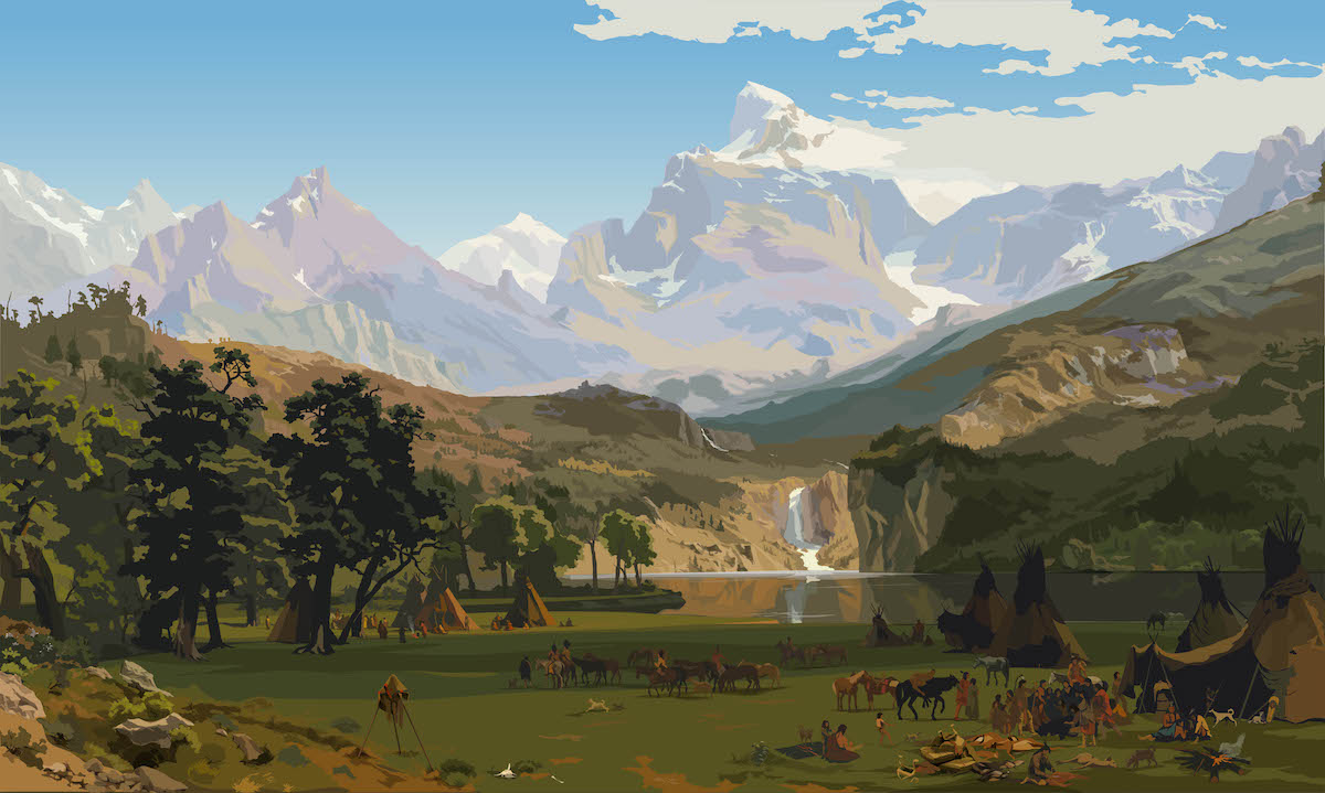 Lander's peak Bierstadt