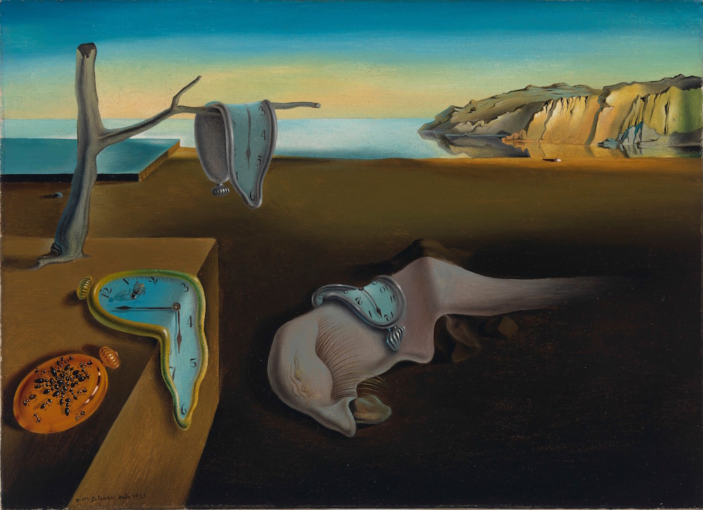 Salvador Dalí, The Persistence of Memory, 1931, oil on canvas, 21.4 x 33 cm,