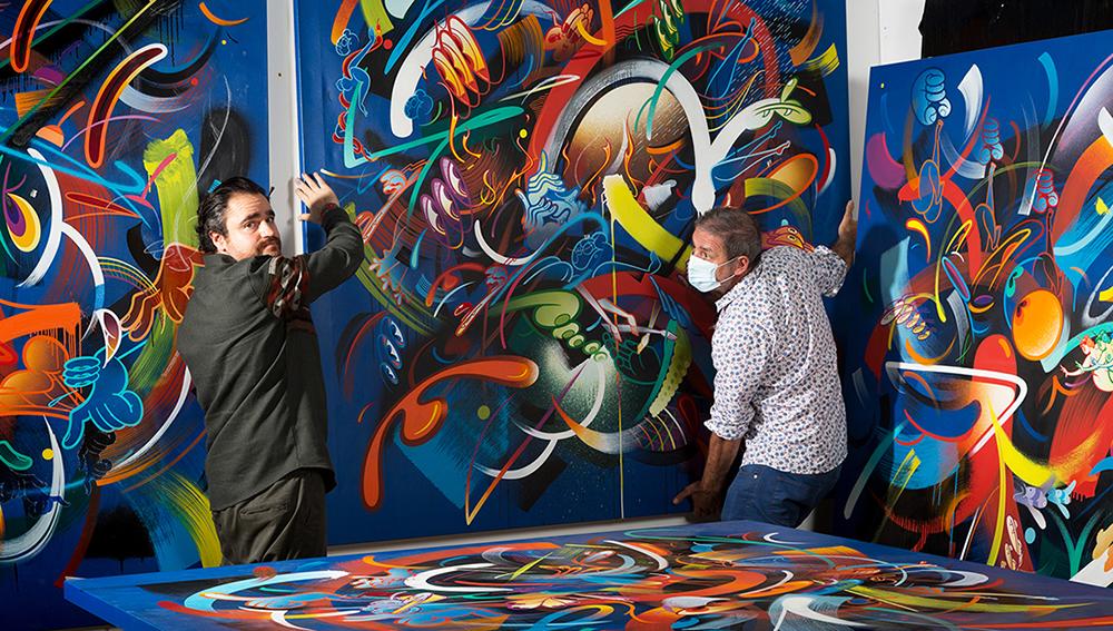 Le graffiti artiste RIME s'expose à la Galerie Wallworks