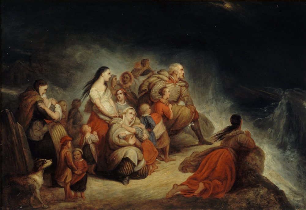 Ary Scheffer (1795-1858). La Tempête, vers 1820